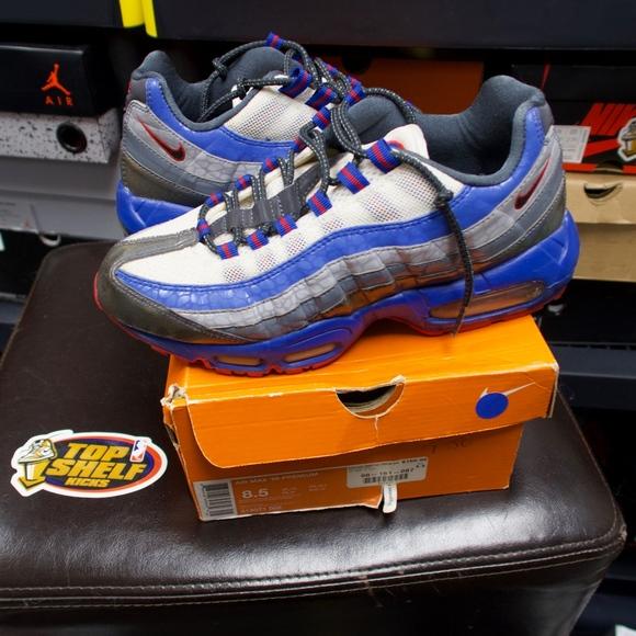 Nike Shoes Air Max 95 Premium Size 85 Grey Blue Red Poshmark